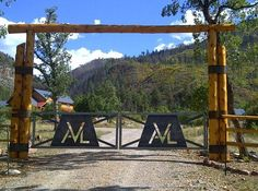 Marquez Ranch(name subject to change) Entry over hanging Driveway Entrance, Entrance Sign, Entrance Ways, Grand Entrance, Front Gates, Entry Gates, Ranch Names, Rustic Entry, Farm Gate