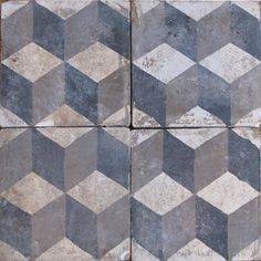 diamond ceramic tiles from solar antique tiles Handmade tiles can be colour coordianated and customized re. shape, texture, pattern, etc. by ceramic design studios Handmade Tiles, Tiles, Decorative Objects, Tile Rug, Geometric Floor, Tile Art, Textures Patterns, Geometric Tiles, Ceramic Design
