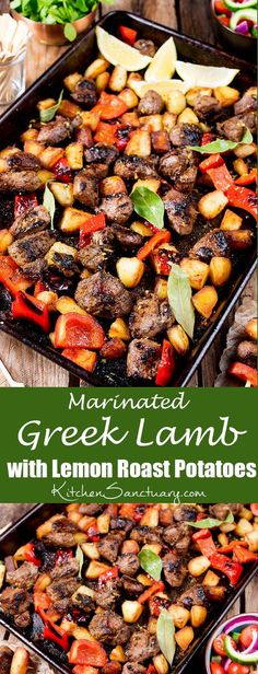 Marinated Greek lamb, packed full of flavour - pan-fried to caramelized perfection.