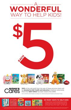 Winter 2014: The newest Kohl's Cares plush toys and books are now available. All proceeds benefit East Tennessee Children's Hospital.