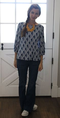 Cute pattern on the top, great fit as well. Amanda