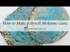 Polymer Clay Jellyroll Mokume Gane Tutorial - YouTube