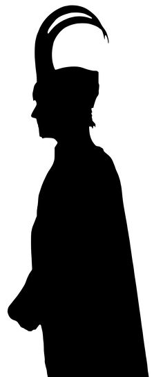 Loki's vectorized silhouette by Sephora909.deviantart.com on @deviantART ~ Could be used for a Diy project.