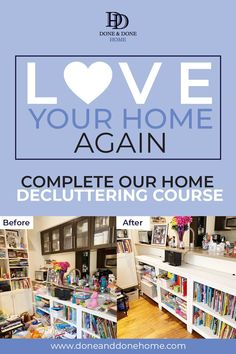 Join our decluttering course to to learn how to declutter your home when you don't know where to start and you're overwhelmed by the mess. Professional organizers share the best decluttering tips and ideas for families in this step by step virtual learning course so that you can Love Your Home Again. Decluttering hacks for a messy house to to declutter and organize every room in your house. #decluttering #declutteringcourse #clutter #getridofclutter #declutteringtips Organising Hacks, Home Office Organization, Declutter Your Home, Organizing Your Home, Professional Organizers, Refrigerator Organization, Messy House, Getting Rid Of Clutter, Clutter Free Home