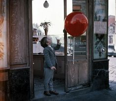"""My favorite source for children's fashion inspiration when at my drawing board: vintage french films like """"Le Ballon Rouge. Red Balloon Movie, Picture Boxes, French Films, Family Movies, Film Stills, Childhood Memories, Cannes, Paris, Poster"""