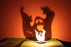 Halloween Tea Light Garden Lantern Wooden Indoor by FeelMyCraft, €6.50
