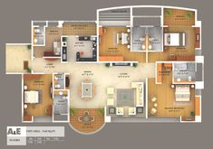 38 best architecture colored floor plan images floor - Best house design software ...