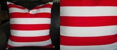 $19.00 Red Stripe Pillow
