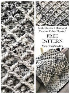 The Neil Diamond Crochet Cable Blanket with FREE Pattern! - YarnHookNeedles - YarnHookNeedles