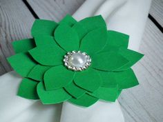 On clearance single napkin ring kelly green by ForeverSweethearts