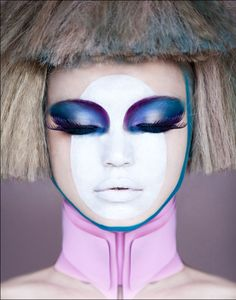Be a babe from the future with this avant garde look. Use professional products from crcmakeup.com