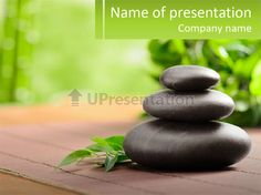 Rock aromatherapy tropical PowerPoint Template