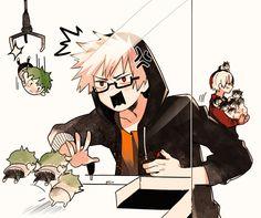 Boku no Hero Academia    Katsuki Bakugou, Todoroki Shouto.