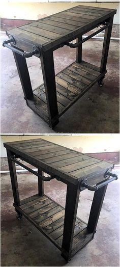 wood pallet bbq table