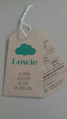 Het geboortekaartje van Lowie