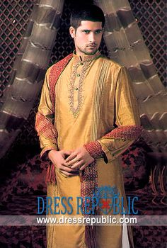 Style DRM1290 - DRM1290, Deepak Perwani Mens Shalwar Kaemez EID 2013 Collection, Ramadan EID Designs by www.dressrepublic.com