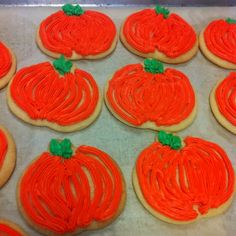 Quick pumpkin frosted sugar cookies