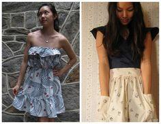 Grosgrain: Free Pattern Month Day 18 - Vivat Veritas: Scallop Waist Skirt