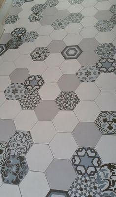 Carrelage Hexagonal Mat Gris X Cm HE Renovation - Carrelage hexagonal gris
