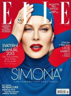 Simona Krainová - Elle Magazine Cover [Czech Republic] (February 2015)
