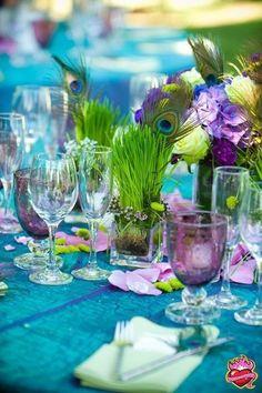 Peacock Colors, Peacock Theme, Peacock Wedding, Purple Wedding, Wedding Colors, Wedding Flowers, Peacock Feathers, Peacock Party Ideas, Purple Peacock