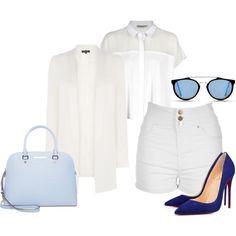 lookbook: white by paluna on Polyvore featuring moda, Calvin Klein, Warehouse, Jane Norman, MICHAEL Michael Kors and Revo