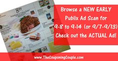 ***PUBLIX AD SCAN FOR 9-8 to 9-14-16 (9/7-9/13) ~ ALL 16 PAGES*** We are working on the matchups but thought you might like to Browse the ad now :-) Click the Picture below to BROWSE all 16 Pages of the ACTUAL Publix AD for 9-8 to 9-14-16 (9/7-9/13) ► http://www.thecouponingcouple.com/publix-ad-scan-for-9-8-to-9-14-16/  SHARING this POST Really Helps make it possible for us to continue to bring you these GREAT EARLY Ad Scans!  #Coupons #Couponing #CouponCommunity  V