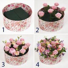 Ничто так не интригует, как закрытая подарочная коробка. Особенно если рядом, словно элегантная цветочная шляпка, расположилась прелестная флористичес...