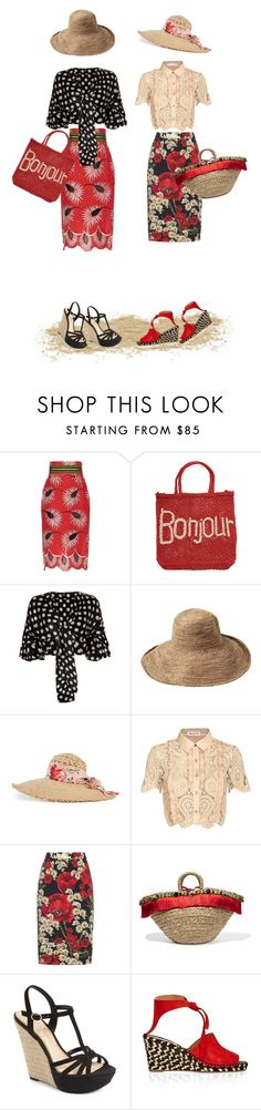 """""""Provencal Outing in Hats"""" by jannieboots ❤ liked on Polyvore featuring Stella Jean, The Jacksons, Johanna Ortiz, Toast, Gucci, self-portrait, Dolce&Gabbana, Jessica Simpson and Proenza Schouler"""