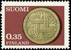 Postage stamp celebrating 150 years of institutional insurance services in Finland. 1966.