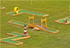 Don't want to leave your house to host a mini golf birthday party? Here's an idea - have the party sent to you!