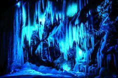 Ice Climbers on Norway's Colorfully Lit Up Frozen Waterfalls - My Modern Metropolis