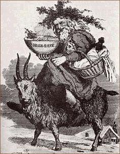 Santa on this julbock