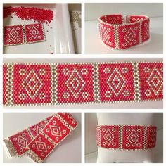 peyote squares - connected with the teeth rather than zipped up -