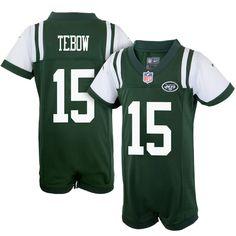 Nike Tim Tebow New York Jets Newborn Game Romper Jersey – Green