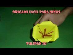 ORIGAMI FACIL PARA NIÑOS TULIPAN 3D - YouTube
