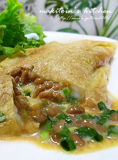 Natto Omelet. I want to try making this....