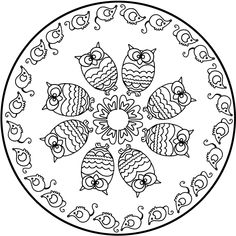 Looking for a Coloriage à Imprimer Mandala Hiboux. We have Coloriage à Imprimer Mandala Hiboux and the other about Coloriage Imprimer it free. Easy Mandala Drawing, Mandalas Drawing, Mandala Coloring Pages, Animal Coloring Pages, Coloring Book Pages, Printable Coloring Pages, Mandala Pattern, Zentangle Patterns, Zentangles