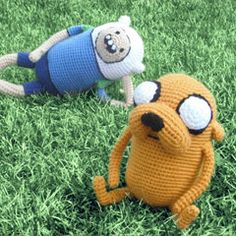 Finn and Jake amigurumi crochet pattern by Erin's Toy Store