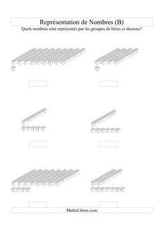 Représentation de nombres -- Unités et dizaines (B)