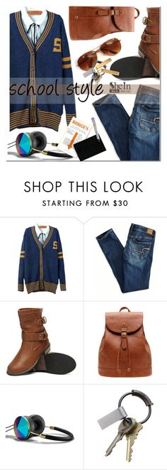 """school style"" by mirisproleca ❤ liked on Polyvore featuring American Eagle Outfitters, Abercrombie & Fitch, CB2, Sir/Madam, StreetStyle, school and jeans"