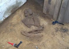 An ancient skeleton, thought to date back to Roman Britain, has been discovered in a sewer trench. Contractors from Yorkshire Water were installing sewers in Norton near Malton when they made the discovery.   The discovery was made by contractors working on sewers under Sutton Street in Norton-on-Derwent [Credit: Yorkshire Water]