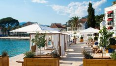 Set in Tivat, Boutique Hotel La Roche features a private beach area and seasonal outdoor swimming pool. Outdoor Swimming Pool, Swimming Pools, Patio, Boutique, Beach, Outdoor Decor, Luxury Hotels, Travel, Lush