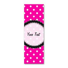 SOLD Bookmark Business Card Hot Pink Polka Dot! #Zazzle #Bookmark #Business #Card #Hot #Pink #Polka #Dot #polkadots http://www.zazzle.com/bookmark_business_card_hot_pink_polka_dot-240208844028838203