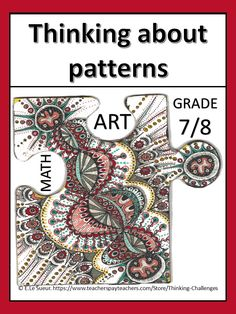 Patterns in math, patterns in nature, behavior patterns, patterns in architecture, reading fun, reading activities middle school, independent reading activities, engaging reading activities Math Literacy, Literacy Centers, Reading Activities, Classroom Activities, Math Patterns, Pattern Grading, Independent Reading, Math Projects, Thematic Units