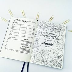 bujo bullet journal inspiration and weekly spreads Etsy Bullet Journal, Doodle Bullet Journal, February Bullet Journal, Bullet Journal Quotes, Bullet Journal Spread, Bullet Journal Inspo, Bullet Journal Layout, Bullet Journals, Bullet Journal Health