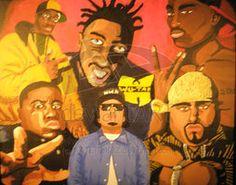 Hip Hop Art- ODB/Big Pun/Tupac/Eazy E/Biggie  www.loyallisteners.net
