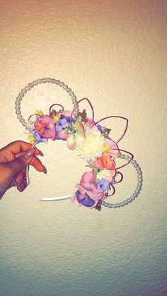 Minnie Mouse Pearl Wire Ears DIY