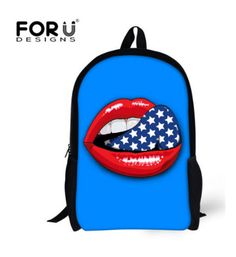 C3506C 2016 Trendy Fashion Children School Bags Candy Color Women School Backpack For Teenagers Girls Sexy Lips Mochila Infantil