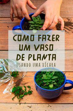 Aprenda a fazer um vaso de flor usando o que você já tem em casa: uma xícara ou uma caneca! // Reaproveitando as xícaras : aprenda a fazer um vaso de suculentas com xícaras. Projetos para inspiração e tutorial (is) faça você mesmo. // faça você mesma, DIY, inspiração, decoração, ideia, tutorial, jardinagem, artesanato, xícara, fura xícara, fazer vaso de planta, planta, suculenta, furadeira.